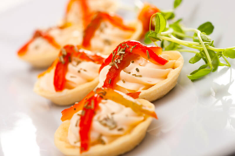 Red Pepper and Rosemary Tartlets | Chez Nous Corporate